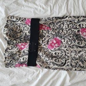 Rachel Roy Skull Strapless Dress